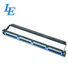 China Cable Managament 24 Port Network Patch Panel Telecommunication Application Durable factory