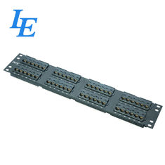 China Telecommunication Cat5 Feed Through Patch Panel UTP Type 1000 Matching Cycles factory