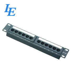 China 1U 12Port Network Patch Panel Used For Eethernet Network Easy To Assemble factory