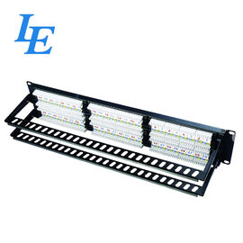 China 48 Port Cat6 Patch Panel 1u , P2248-C6A 48 Port Ethernet Patch Panel factory