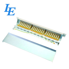 China 1U FTP 24 Port Network Patch Panel With Compatible Srews / Cable Ties Durable factory