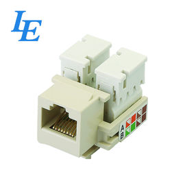 China K005-C5E Rj45 Ethernet Jack With Fastener Hats Easy To Assemble / Disasemble factory