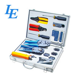 China LE-K4015 Network Wiring Tools Kit Set Of Crimp Punch Strip Cut Tool Tester factory