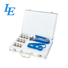 China RJ45/12/11 Network Cable Tool Set For Crimping / Cutting / Stripping CE Approved factory