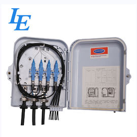 China 8 Cores Fiber Optic Cable Termination Box , Wall Mounted Optical Distribution Box factory