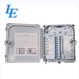 China Outdoor 12 Cores Fiber Optic Distribution Box PC ABS Plastic Material CE Approved factory
