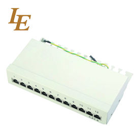 China Superior Performance Network Patch Panel UTP FTP RJ45 19 Inch 10 Inch Rack Mount 12 Ports 24 Ports factory