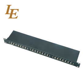 China Fiber Networking CAt5E 24 Way UTP FTP Patch Panel SPCC Plastic Rack 19 Inch Superior Performance factory