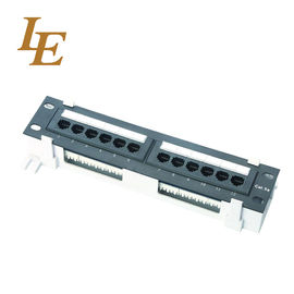 China 1U UTP 12 Port Wall Mount CAT5E Patch Panel SPCC Cold Rolled Steel Material factory