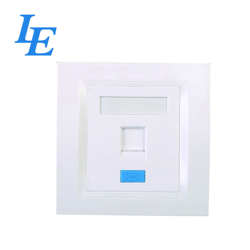 1Port Network Faceplate Socket ABS Material For Cat 5e / Cat 6 ROHS Approved supplier