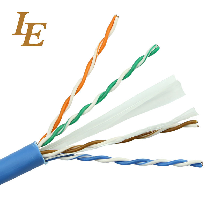 Durable Network Lan Cable Cat 5e 4 In 1 PE Insulation Long Lifespan ROHS Approved supplier