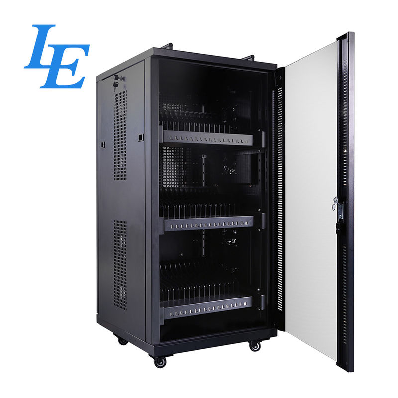 USB Server Rack Cabinet IP20 Charging Cabinet Cooling Fan System Two Handles On Top supplier
