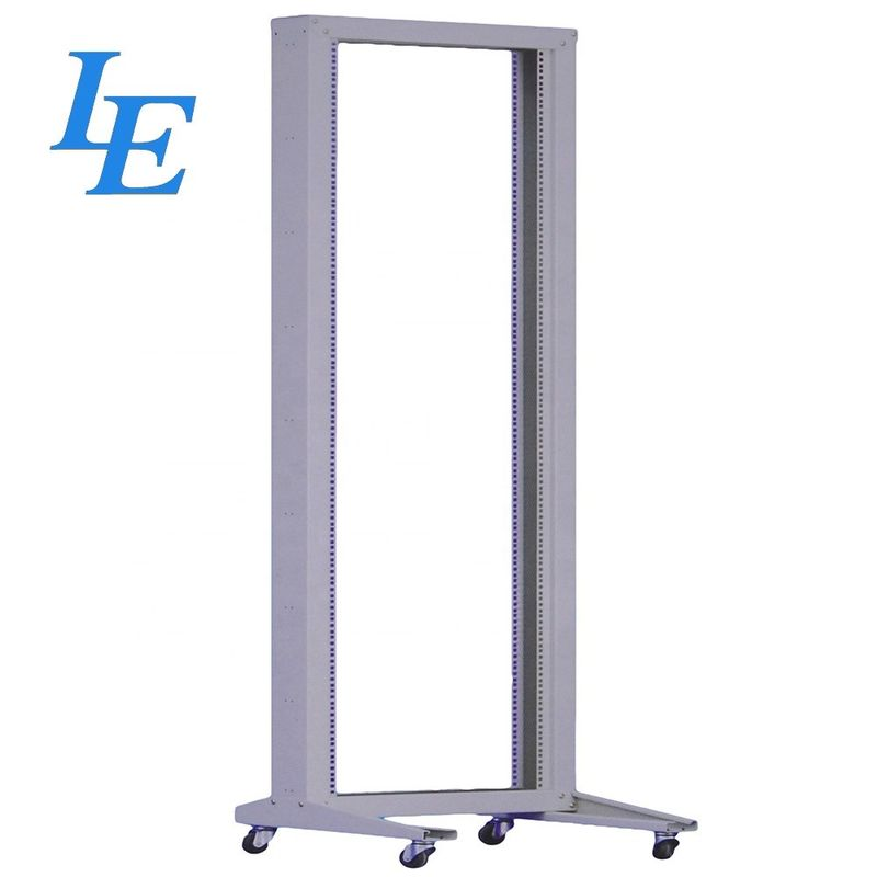 19 Inch Telecom 4 post open frame rack With Plinth supplier