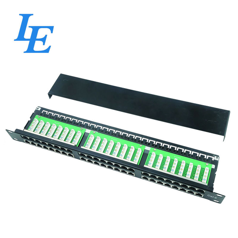 19'' FTP 48 Port 2U Cat6 Patch Panel For Lan Cabling Network supplier