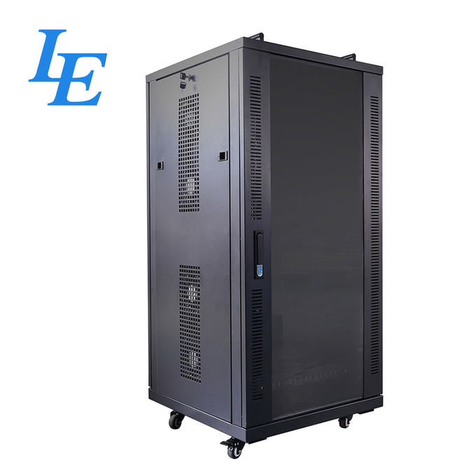 USB Server Rack Cabinet IP20 Charging Cabinet Cooling Fan System Two Handles On Top