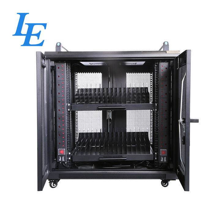 800KG Loading Capacity Server Rack Cabinet PDU Rack IP20 SPCC Material Rolling Wheels With Braked